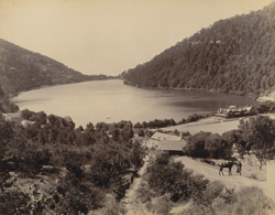 View looking south across Naini Tal Lake from the north end